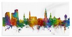 Groningen The Netherlands Skyline Beach Towel