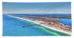Gsp Pier And Beach Beach Towel