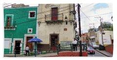Beach Towel featuring the photograph Guanajuato Street Corner by Rosanne Licciardi