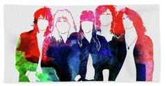 Guns N' Roses Watercolor Beach Towel