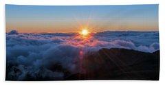 Haleakala First Light  Beach Towel