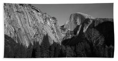 Beach Towel featuring the photograph Half Dome At Yosemite by John Rodrigues