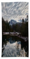 Half Dome Reflection Beach Towel