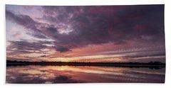 Halifax River Sunset Beach Towel