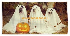 Halloween Hounds Beach Sheet