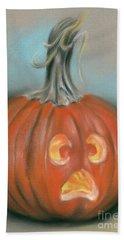 Halloween Jack O Lantern Pumpkin Beach Sheet