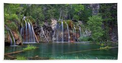 Beach Towel featuring the photograph Hanging Lake Colorado by Nathan Bush