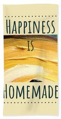 Beach Towel featuring the painting Happiness Is Homemade #3 by Maria Langgle