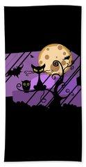 Happy Halloween Cat Beach Towel