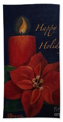 Happy Holidays Beach Towel