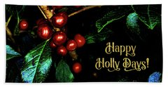 Happy Holly Days Beach Sheet
