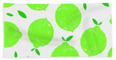 Happy Lime Print Beach Towel