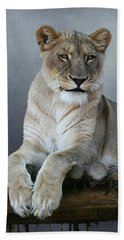 Happy Lioness Beach Sheet