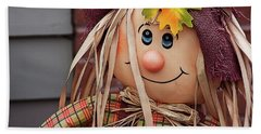 Beach Towel featuring the photograph Happy Thanksgiving Doll by Tatiana Travelways