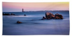 Beach Towel featuring the photograph Harbor Light by Jeff Sinon