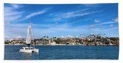 Harbor Sailing Beach Towel