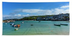Harbour To Porthminster St Ives Cornwall Beach Towel