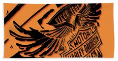 Harley Davidson Tank Logo Artwork Beach Towel