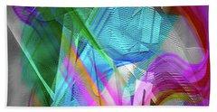 Beach Towel featuring the digital art Harp by Visual Artist Frank Bonilla