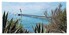 Haskell Beach Pier Beach Towel