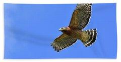Hawk On The Go Beach Sheet