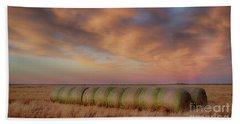 Hay Bales On The High Plains Beach Towel