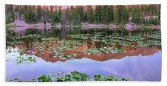 Hayden Peak And Butterfly Lake, Uinta Beach Towel