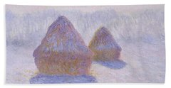 Haystacks, Effect Of Snow And Sun - Digital Remastered Edition Beach Towel