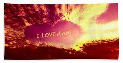 Heart Ann Beach Towel