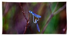 Heart Of Dragonfly Beach Towel