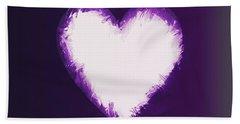 Heart Of Purple Beach Towel