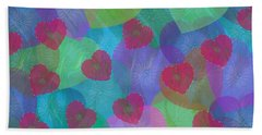 Hearts Aflame Beach Towel