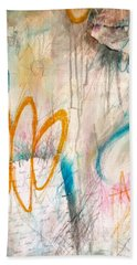 Beach Towel featuring the painting Hello My Darling by Tracy Bonin