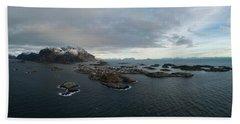 Henningsvaer Lofoten Beach Sheet