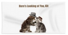 Beach Towel featuring the photograph Here's Looking At You, Kit by Warren Photographic