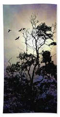 Herons At Dusk Beach Sheet
