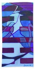 Beach Sheet featuring the painting Hexagram 52-gen-immovable by Denise Weaver Ross