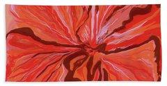 Hibiscus Color Lines Beach Towel