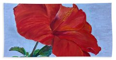Beach Towel featuring the painting Hibiscus by Mkc