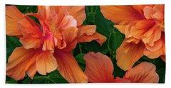 Hibiscus Tripcus Orangus Beach Towel