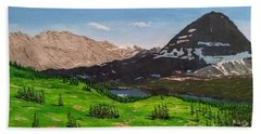 Beach Towel featuring the painting Hidden Lake Pass by Kevin Daly