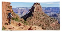 Beach Towel featuring the photograph Hiking Toward O'neill Butte, Grand Canyon by Dawn Richards