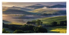 Hilly Tuscany Valley Beach Towel