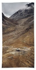 Beach Towel featuring the photograph Himalayan Outpost by Whitney Goodey