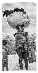 Himba Both Carrying  Beach Towel