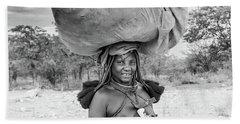 Himba Woman 2 Beach Towel