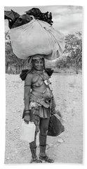 Himba Woman 3 Beach Towel