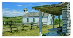 Historic Mcdougall Church, Morley, Alberta, Canada Beach Sheet
