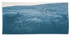 Hoarfrost Blue Mountain Beach Towel