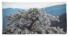 Hoarfrost In The Blue Ridge Mountains Beach Sheet